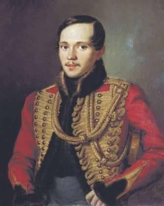 M.Yu. Lermontov - en chemise rouge sur un cheval blanc ...