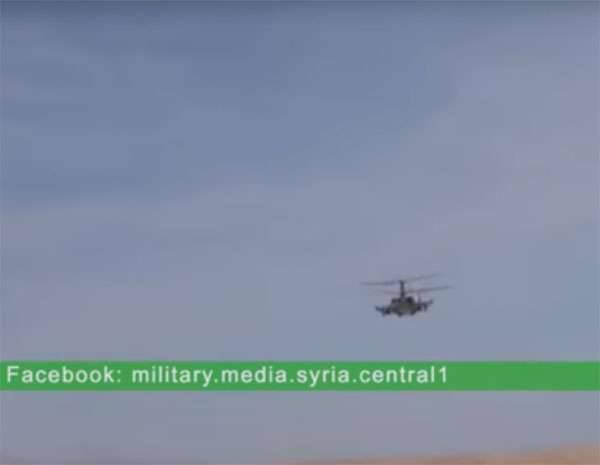 Las fuerzas aeroespaciales rusas utilizaron helicópteros Ka-52 Alligator en Siria