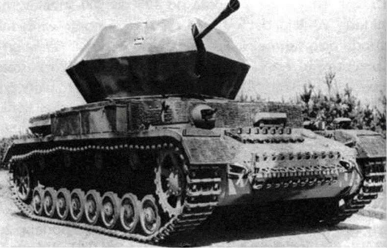 Instalación autopropulsada antiaérea Flakpanzer IV Ostwind (Alemania)
