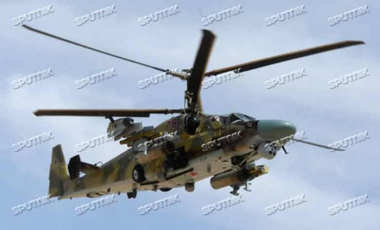 Ka-52 como parte do grupo aéreo russo na Síria
