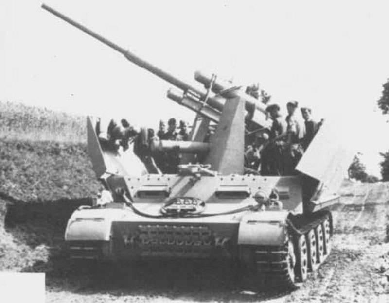 防空自行式安装Versuchsflakwagen 8.8cm FlaK auf Sonderfahrgestell(德国)