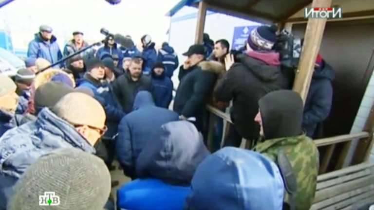 Les ouvriers qui construisent des jetées pour «Boreev» ne reçoivent pas de salaire pendant plusieurs mois.