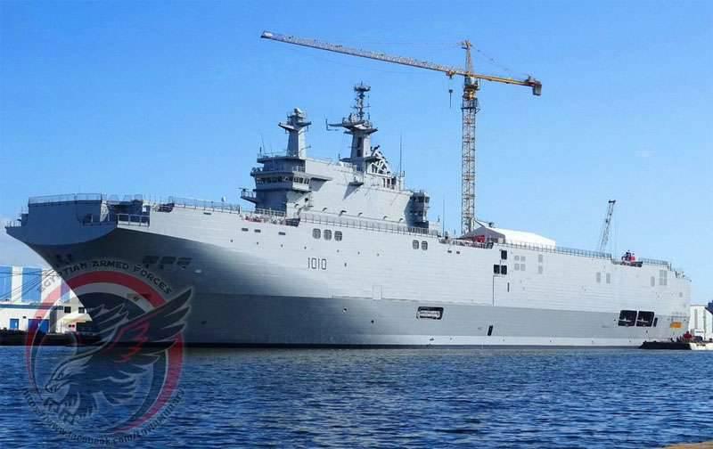 Mistral tipi helikopter taşıyıcıları (Sevastopol ve Vladivostok) Mısır devlet başkanlarının isimlerini aldı ve Eylül ayı sonuna kadar Mısır'a teslim edilecek.