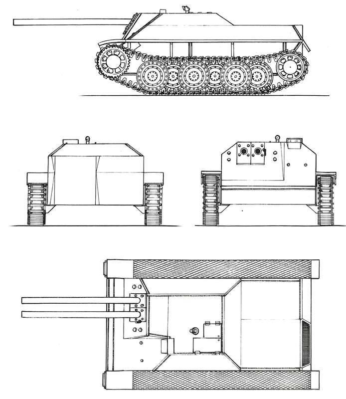 Kendinden itmeli topçu projesi Kleinpanzerjäger Rütscher (Almanya)