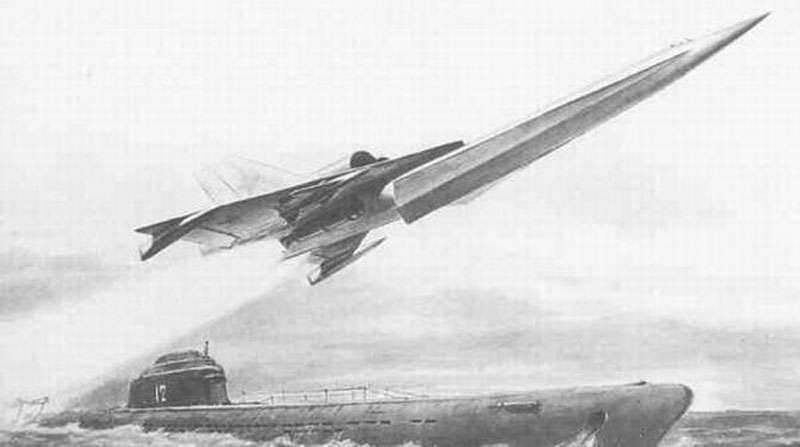 Проект сверхзвукового самолета для подводных лодок П-10Б