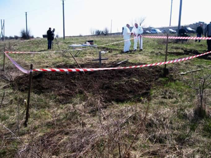 Sepultura maciça descoberta na região de Donetsk, na Ucrânia