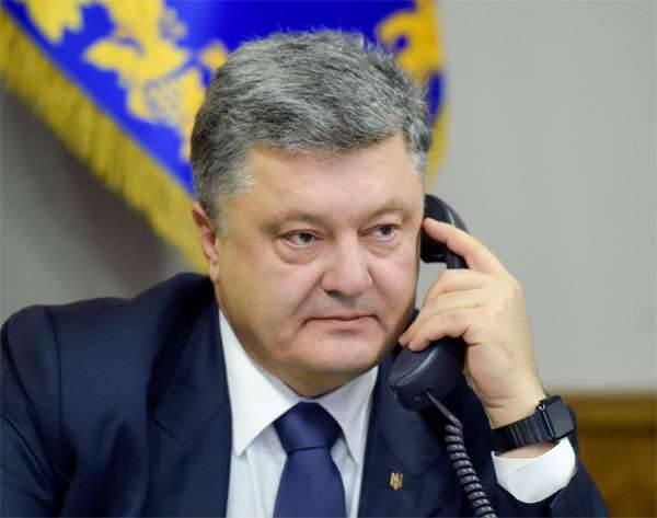 Poroschenko am Telefon beschwerte sich über Merkel und Hollande bei Russland und schlug vor, im Donbass die OSZE-Polizeimission einzuführen