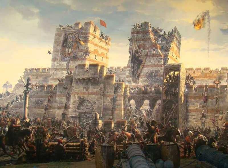 Sombra sobre os Balcãs. Cerco de Constantinopla pelos turcos em abril-maio 1453