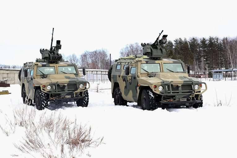 """Arbalet-DM""모듈을 장착 한 ""Tigrov-M""의 첫 배치는 러시아 군대에 진입했다."
