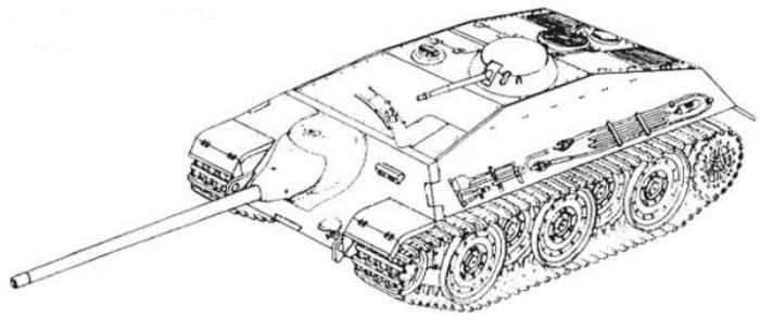 Il progetto di installazione di artiglieria semovente Adlerwerke E-25 (Germania)