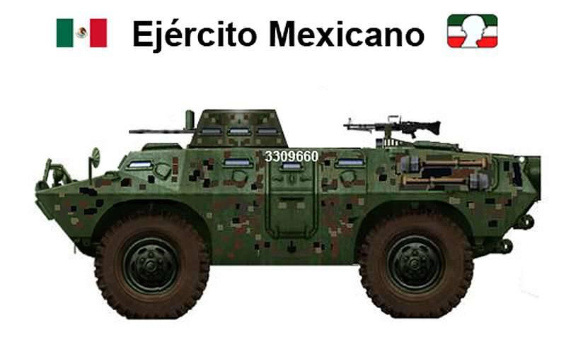 Transportadores de pessoal blindados mexicanos