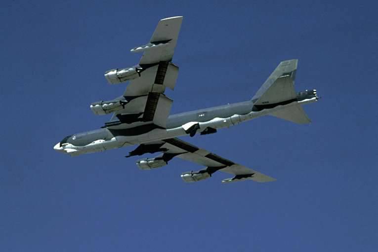 Die Amerikaner setzten den B-52-Bomber erstmals gegen Islamisten im Irak ein