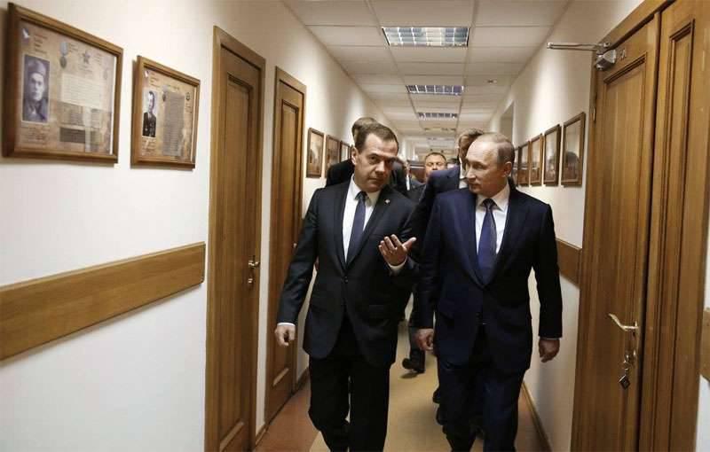 Dmitry Medvedev sugeriu que Vladimir Putin introduzisse um sistema de responsabilidade pessoal para os ministros federais