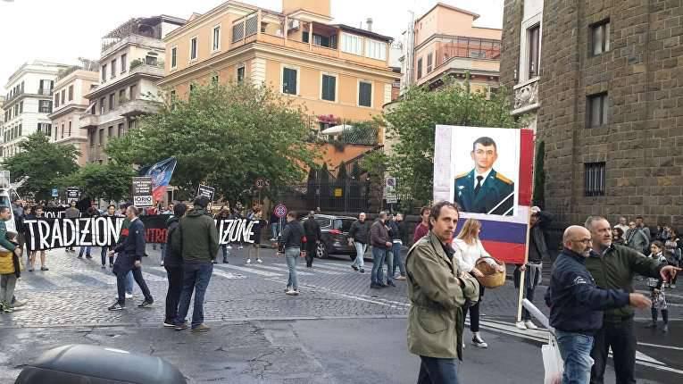 A memória do oficial russo que morreu na Síria foi homenageada em Roma