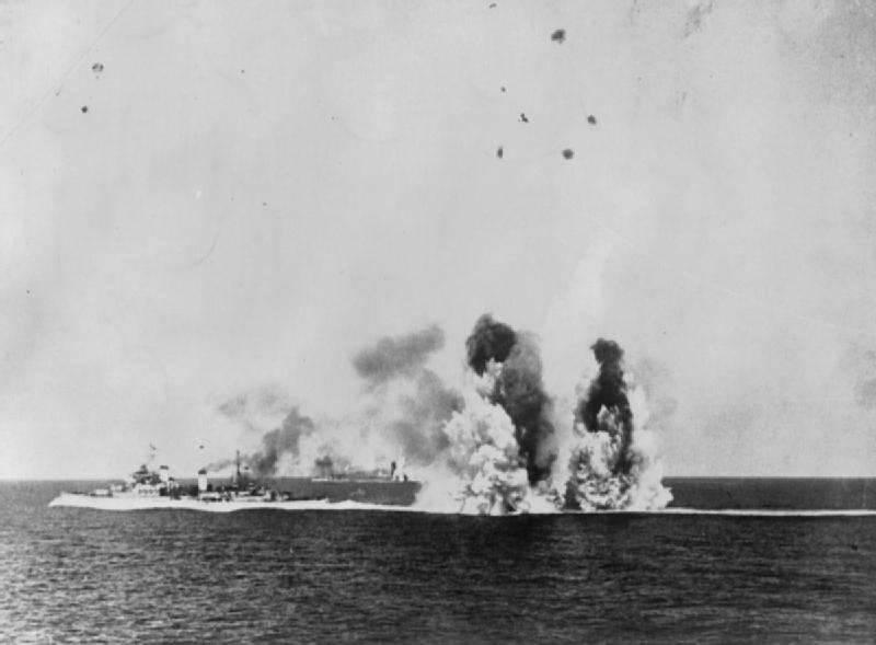 Les navires se sont battus jusqu'au bout