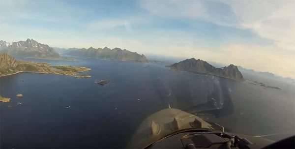 F-16観測塔で発射された目標ではなく運動中のノルウェー空軍