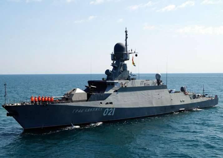 Ejercicio con armas de alta precisión completadas en el Caspio.