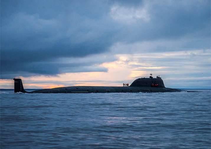 """El submarino """"Severodvinsk"""" desde la posición submarina golpeó el objetivo costero"""