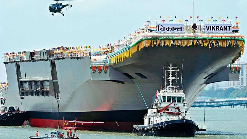 Hint Donanması'nın Vikrant uçak gemisi 2006 yılından beri yapım aşamasındadır.