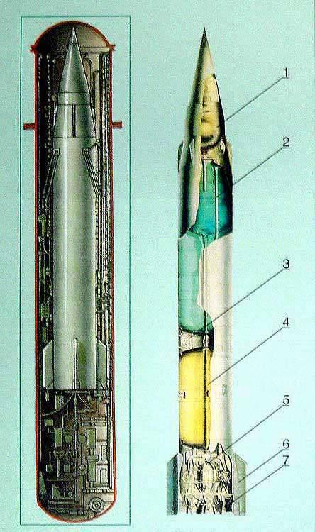 D-2-Raketenkomplex mit einer P-13-Rakete
