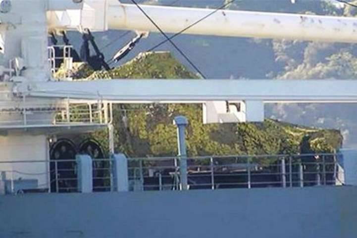 Turks spotted either tanks or boats on board the Russian ship