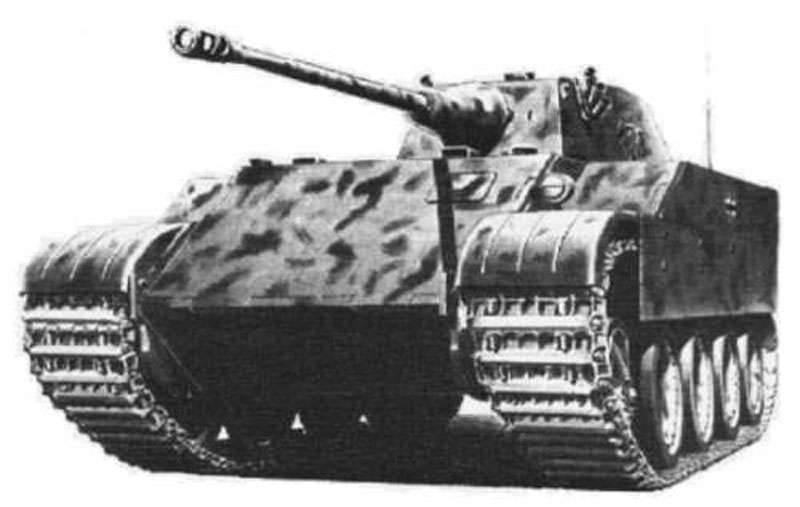The project of a light reconnaissance tank Daimler-Benz VK 1602 Leopard (Germany)