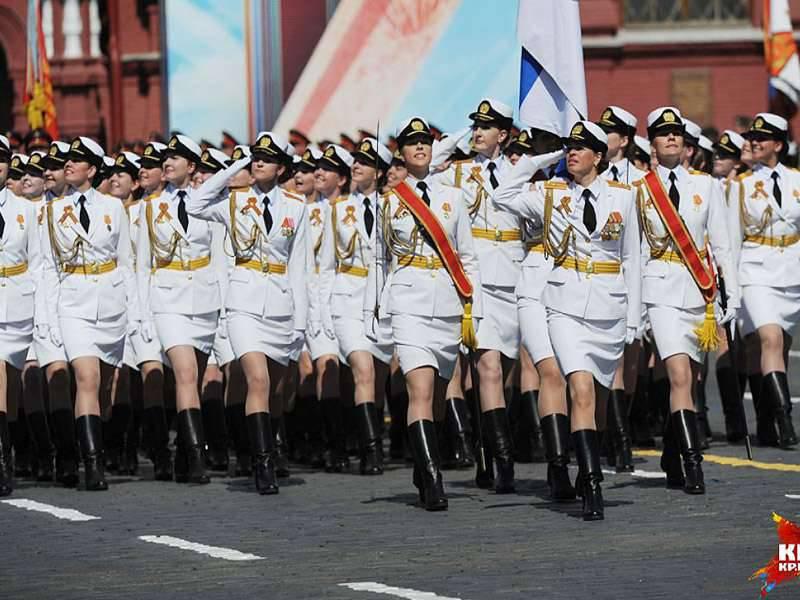 Britische Medien sind mit dem Auftreten russischer Soldatinnen unzufrieden