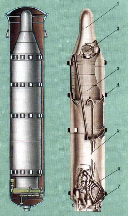 D-5-Raketenkomplex mit einer P-27-Rakete