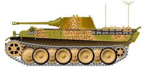 O projeto do tanque de reconhecimento pesado Daimler-Benz VK 2801 (Alemanha)