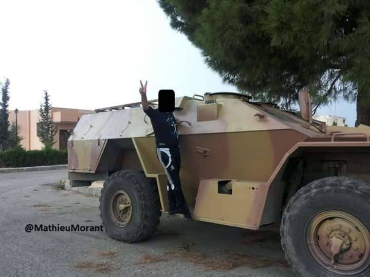 """Russian armored vehicles """"Shot"""" in Syria"""