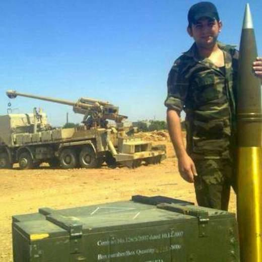 Os artilheiros sírios observaram projéteis desconhecidos