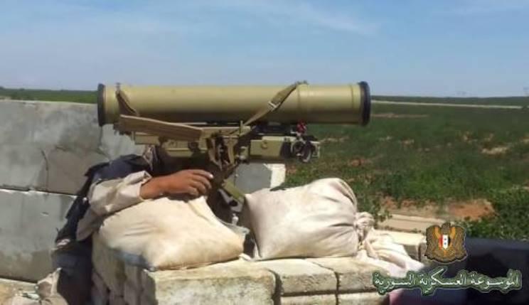 सीरिया में रूसी मेट्रिस-एमएक्सएनयूएमएक्स एटीजीएम