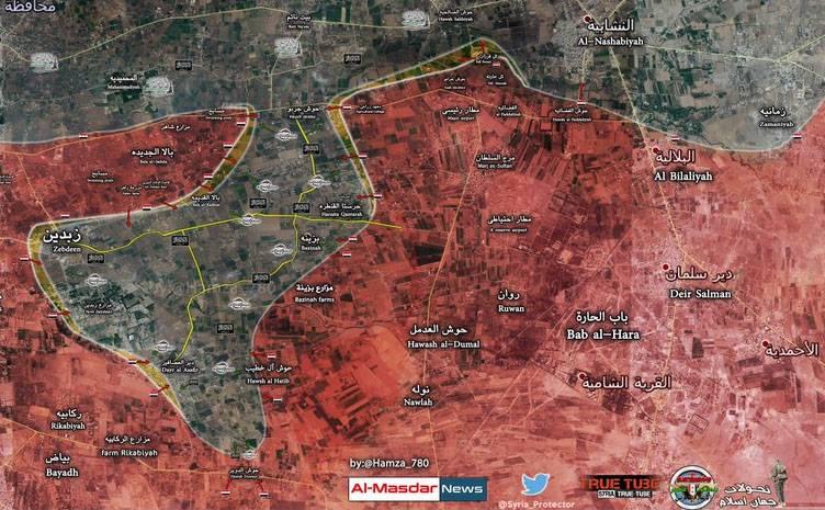 """L'esercito siriano sta cercando di chiamare il gruppo di militanti """"Dzhebhat al-Nusra"""" nella provincia di Damasco"""