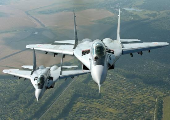 Desenvolvimento por aviões do Distrito Militar Ocidental de cobertura das fronteiras aéreas da Federação Russa