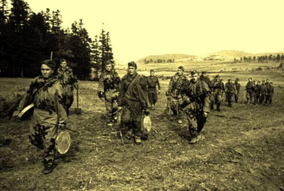 Razzia von Abbruchmännern der Karelischen Front im deutschen Hinterland