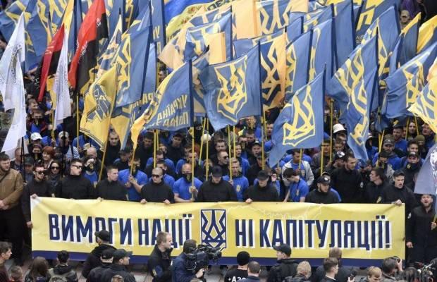 Arbeit ist kein Wolf ... Tausende Radikale marschieren im Zentrum von Kiew