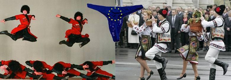Gürcistan ve Moldova için Avrupa Birliği dantel külotu. Temmuz 1 ile deneniyor
