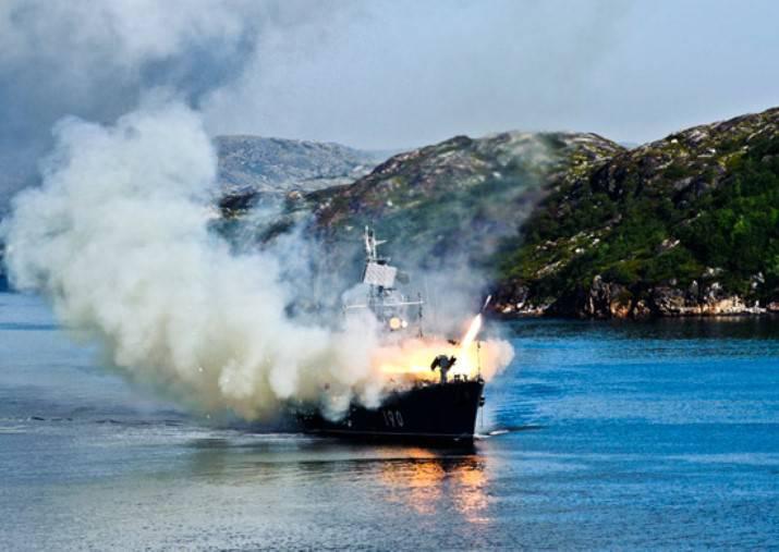 """L'MPK """"Naryan-Mar"""" eseguì le riprese di combattimento nelle catene della Flotta del Nord"""