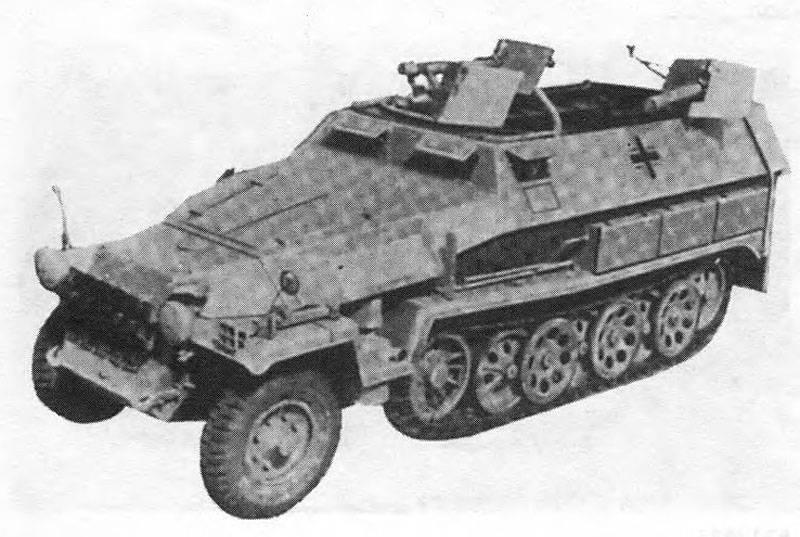자기 추진 화염 방사기 Sd.Kfz.251 / 16 (독일)