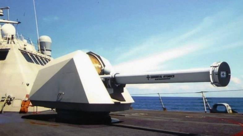General Atomics cria uma arma eletromagnética baseada no mar