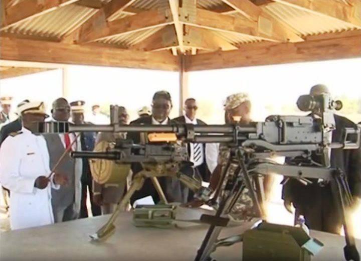 Marines da Namíbia receberam armas russas