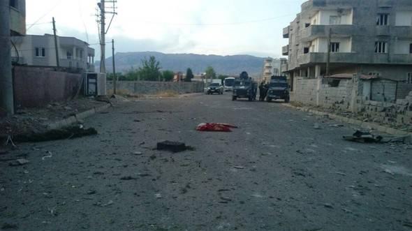 土耳其Silopi爆炸。 有死伤者