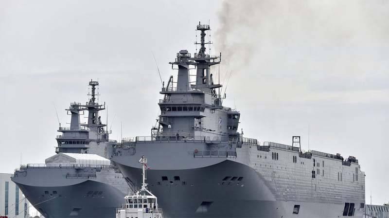 La transferencia del primer Mistral, originalmente construido para la Armada rusa, al lado egipcio, está programada para junio 2
