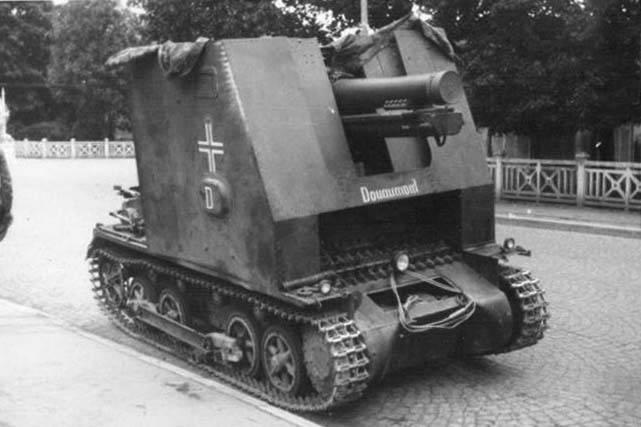 Supporto per pistola semovente 15 cm sIG 33 Sfl. auf Pz.Kpfw.I Ausf.B / Sturmpanzer I (Germania)