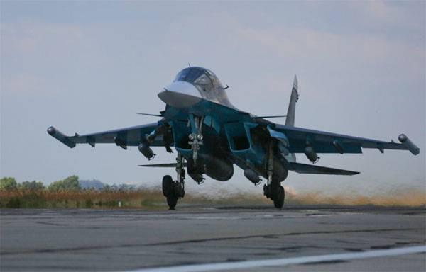 Su-34 VKS RF golpeó la refinería de petróleo utilizada por los militantes de ISIS en la provincia de Hassek (SAR)
