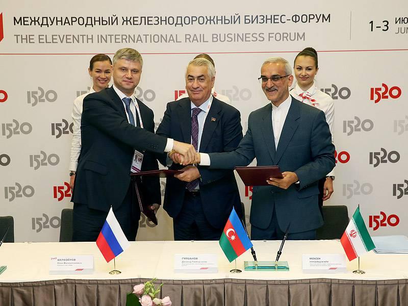 Rusya, Azerbaycan ve İran, Kuzey-Güney demiryolu güzergah programı kapsamında entegrasyonun geliştirilmesi konusunda bir anlaşma imzaladı