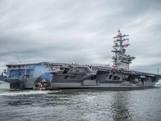 """美国航母""""艾森豪威尔(Dwight Eisenhower)""""去波斯湾""""与ISIS作战"""""""