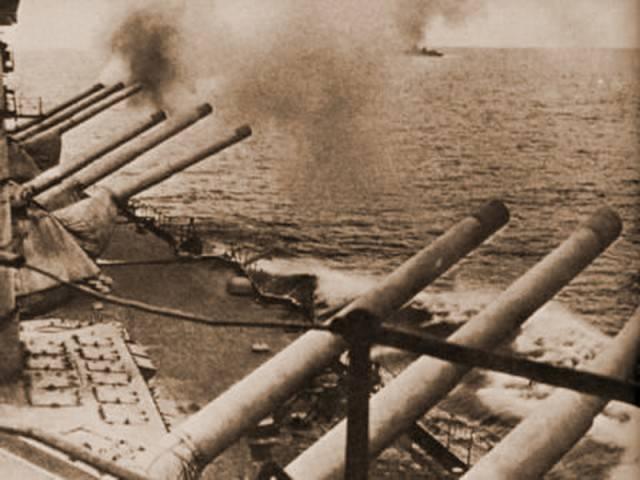 戦時中の海と野戦砲の相互作用について