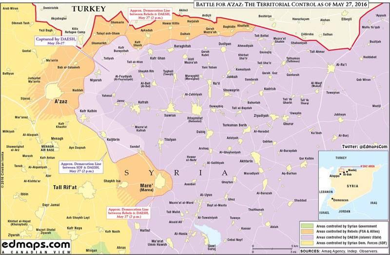 Sobre a situação no norte da República Árabe da Síria