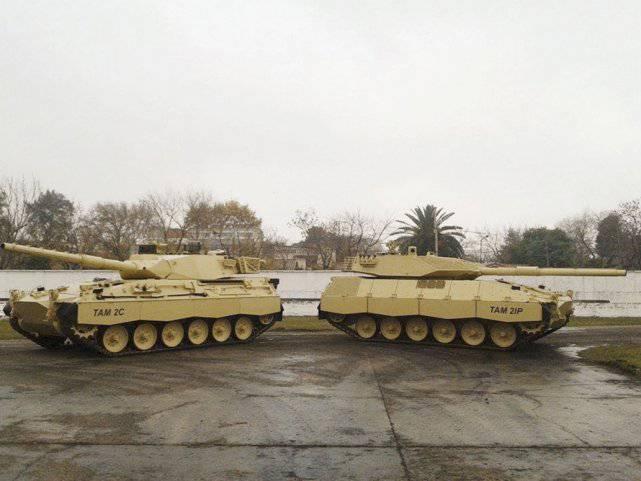 Nuova versione della modernizzazione del carro armato argentino TAM